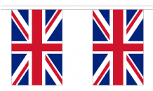 UNION JACK GREAT BRITAIN BUNTING - 18 METRES 30 FLAGS